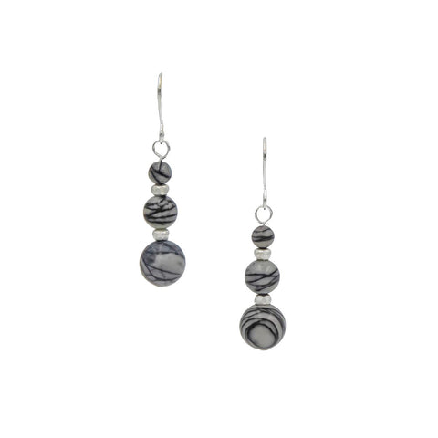 Silk Stone Silver Earrings