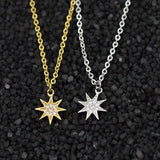 Fashion Paved CZ Stone North Star Necklace Crystal