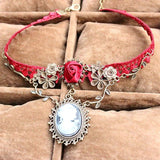 Red Rose Lace Choker