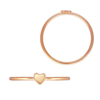 Rose Gold Filled Minimalist Heart Ring