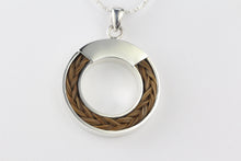 Load image into Gallery viewer, Horse Hair Circle Pendant
