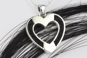 Heart Shaped Horse Hair Pendant