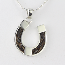 Load image into Gallery viewer, Horse Shoe Horse Hair Pendant