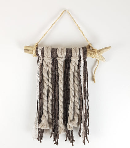 Mini Neutrals Fiber Art Wall Hanging