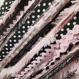 Pink and Black wall hanging, Paris theme decor for girls room, party decor