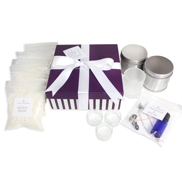 Peppermint Candy Cane Luxury Candle Making Kit