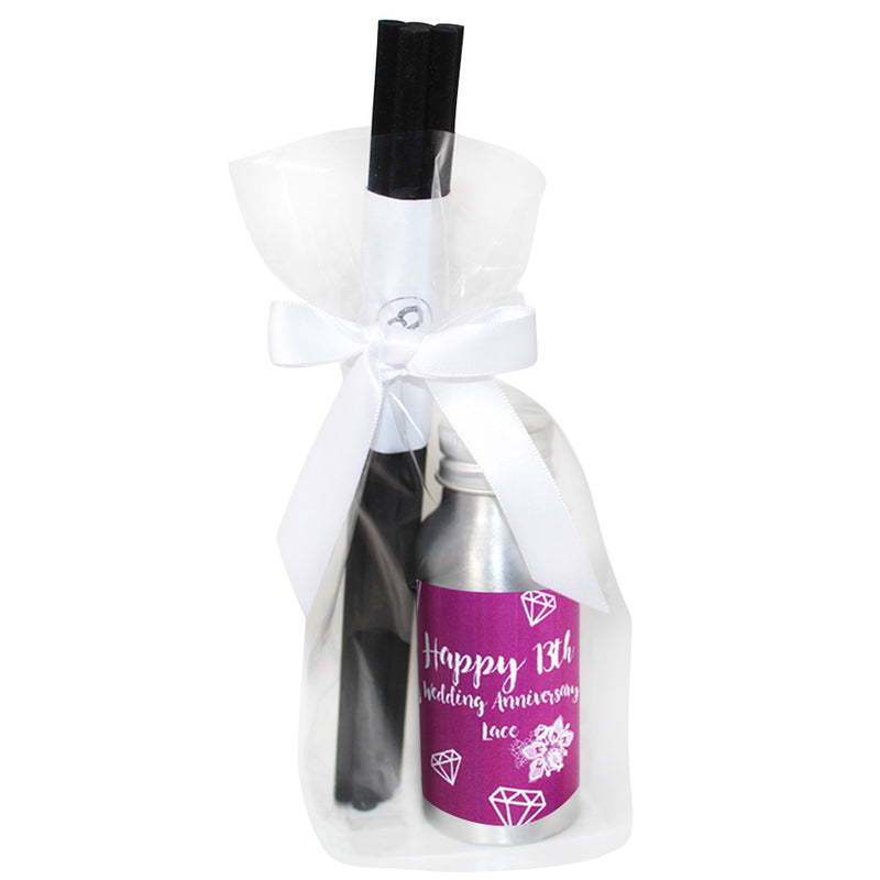 13th Year Lace Wedding Anniversary Oil Reed Tin Diffuser