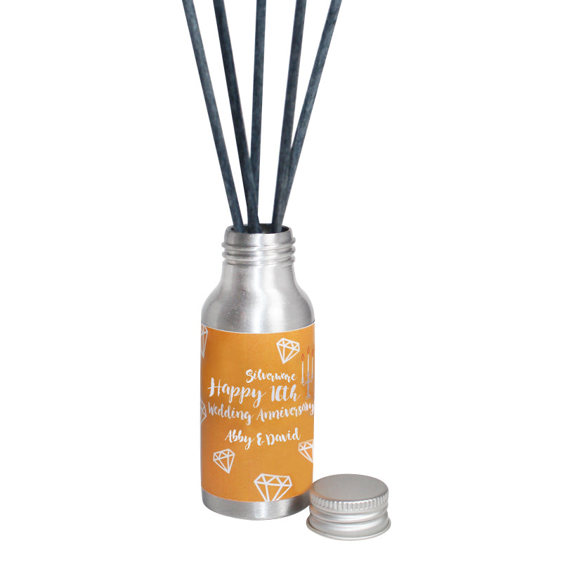 Personalised 16th Year Silverware Wedding Anniversary Oil Reed Tin Diffuser