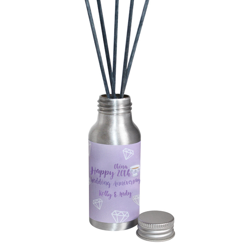 Personalised 20th Year China Wedding Anniversary Oil Reed Tin Diffuser