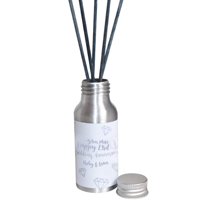 23rd Year Silver Plate Wedding Anniversary Oil Reed Tin Diffuser