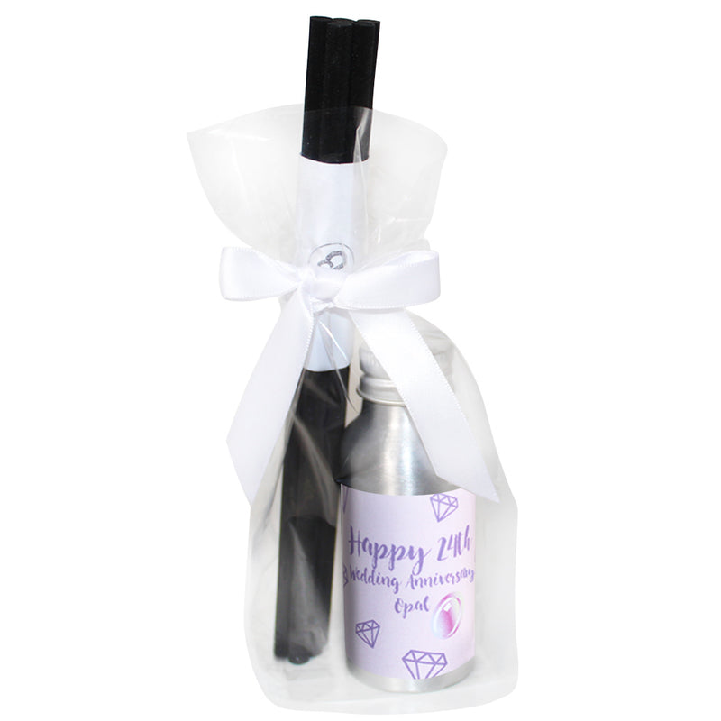 24th Year Opal Wedding Anniversary Oil Reed Tin Diffuser