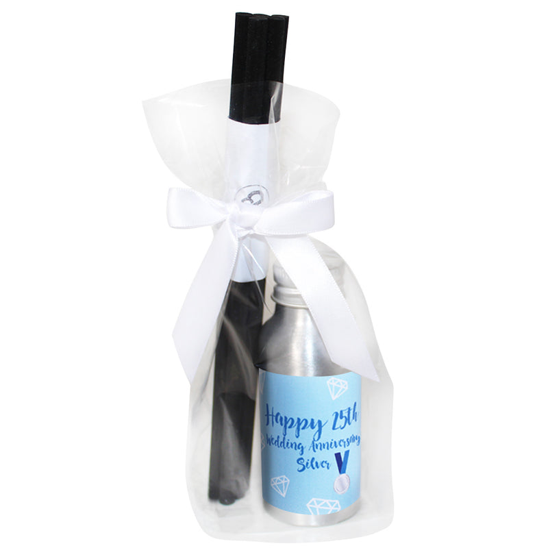 25th Year Silver Wedding Anniversary Oil Reed Tin Diffuser