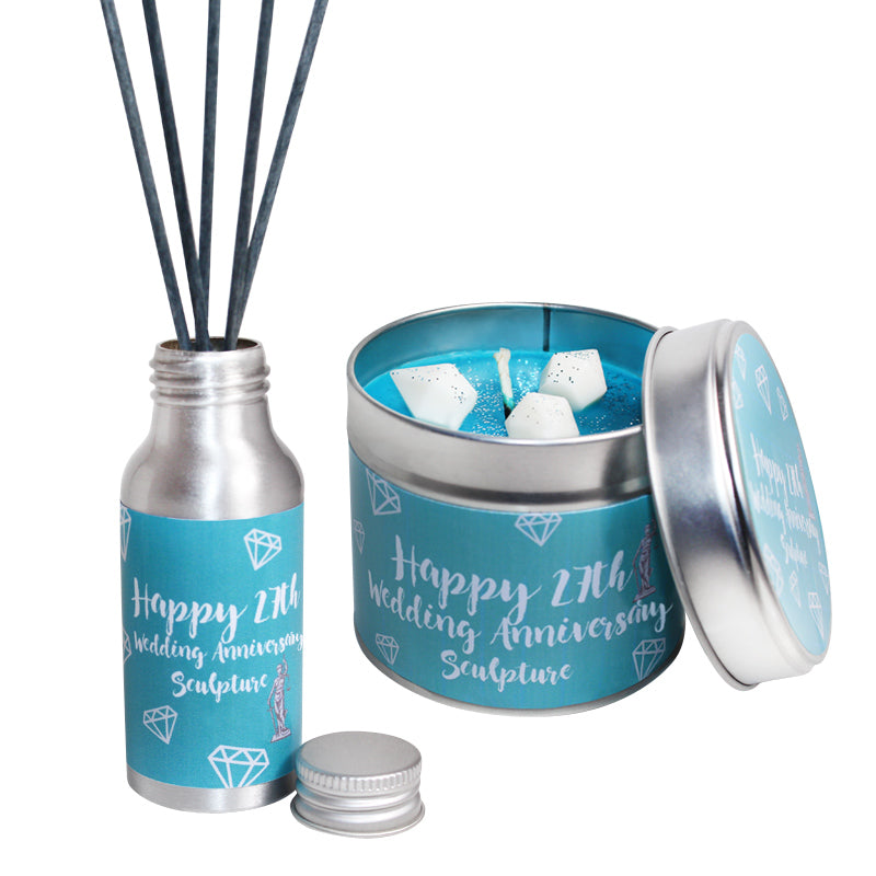 27th Year Sculpture Wedding Anniversary Candle & Diffuser Gift Set