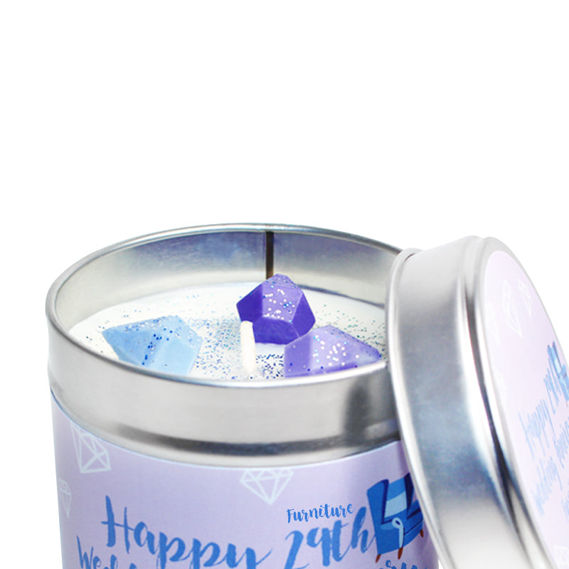 Personalised 29th Furniture Wedding Anniversary Candle Tin