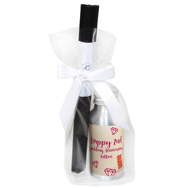 2nd Year Cotton Wedding Anniversary Oil Reed Tin Diffuser