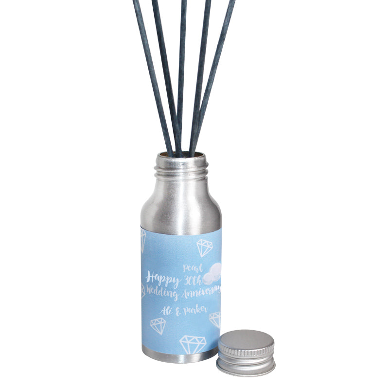 Personalised 30th Year Pearl Wedding Anniversary Oil Reed Tin Diffuser