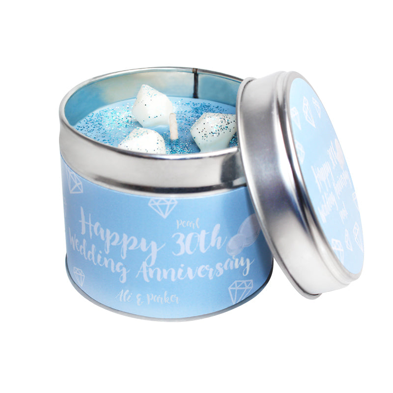 Personalised 30th Year Pearl Wedding Anniversary Candle & Diffuser Gift Set