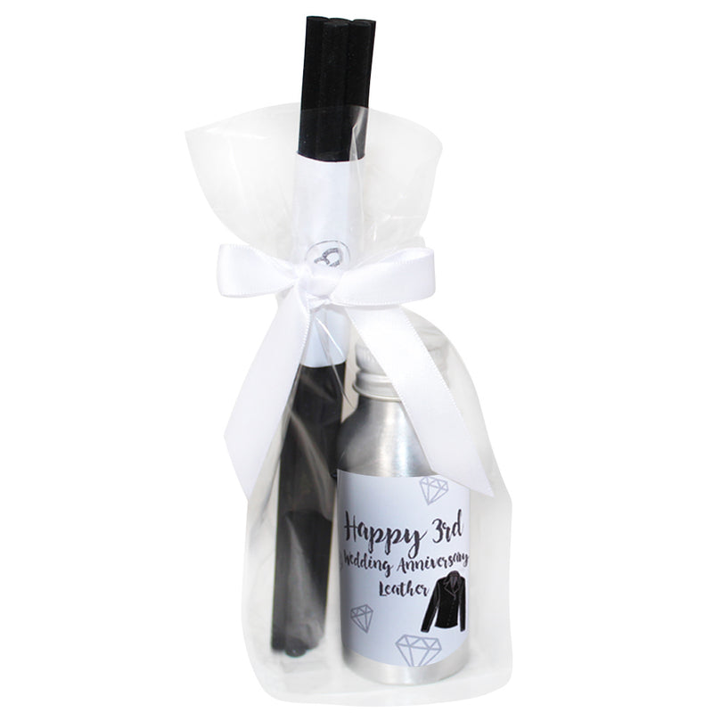 3rd Year Leather Wedding Anniversary Oil Reed Tin Diffuser