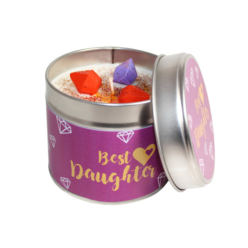Best Daughter Soya Wax Candle Tin