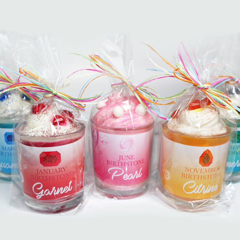 July Birthday Ruby Birthstone Soya Candle