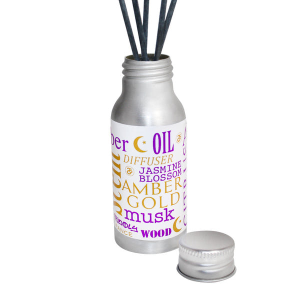 Amber Gold Scented Oil Reed Tin Diffuser