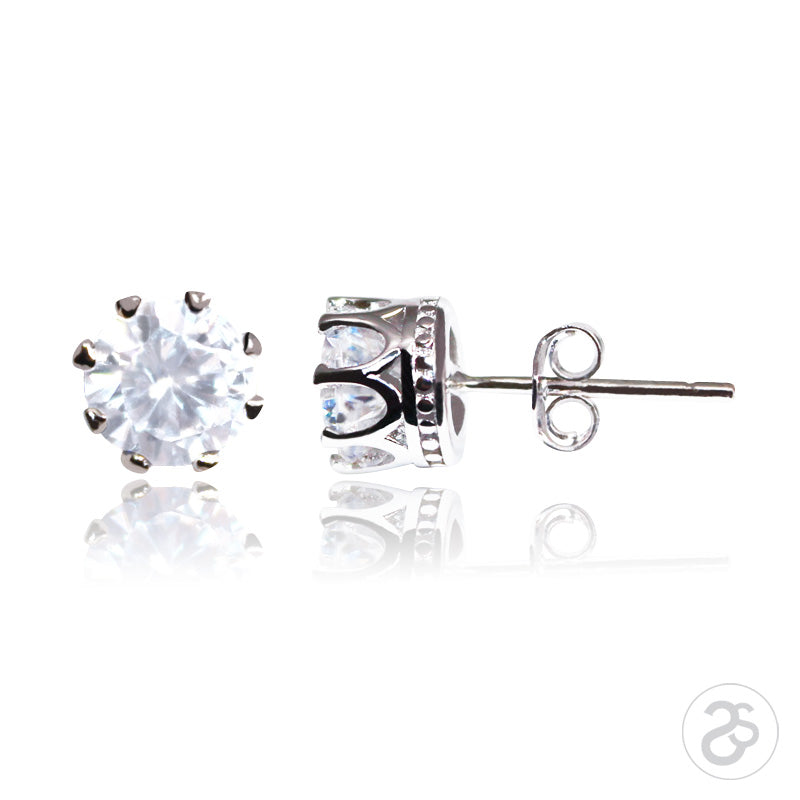 Sterling Silver Antwerp Solitaire Earrings