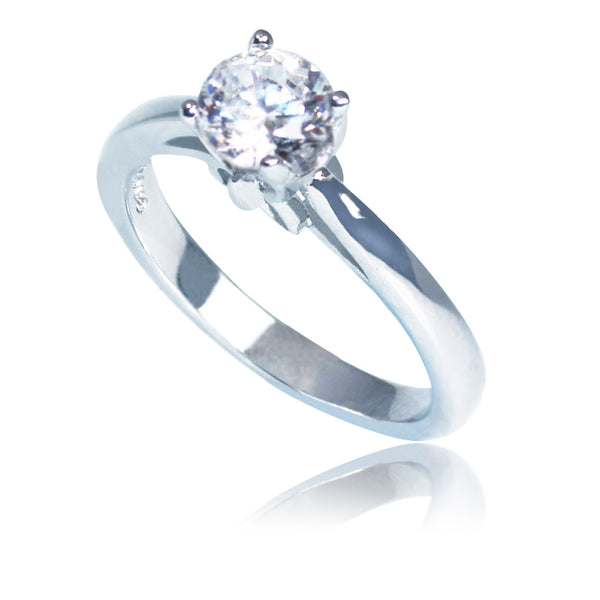 Sterling Silver Antwerp Solitaire Ring