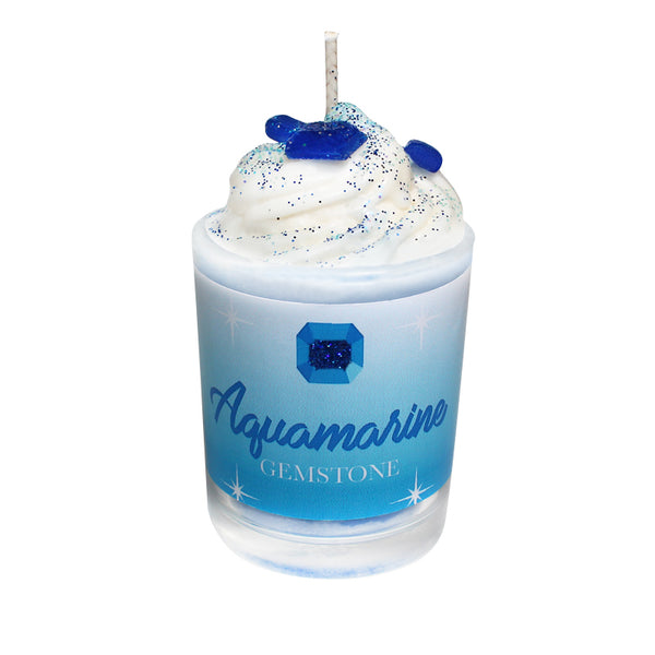 Aquamarine Gemstone Soya Candle