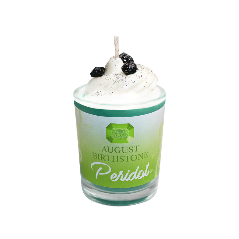 August Birthday Peridot Birthstone Soya Candle