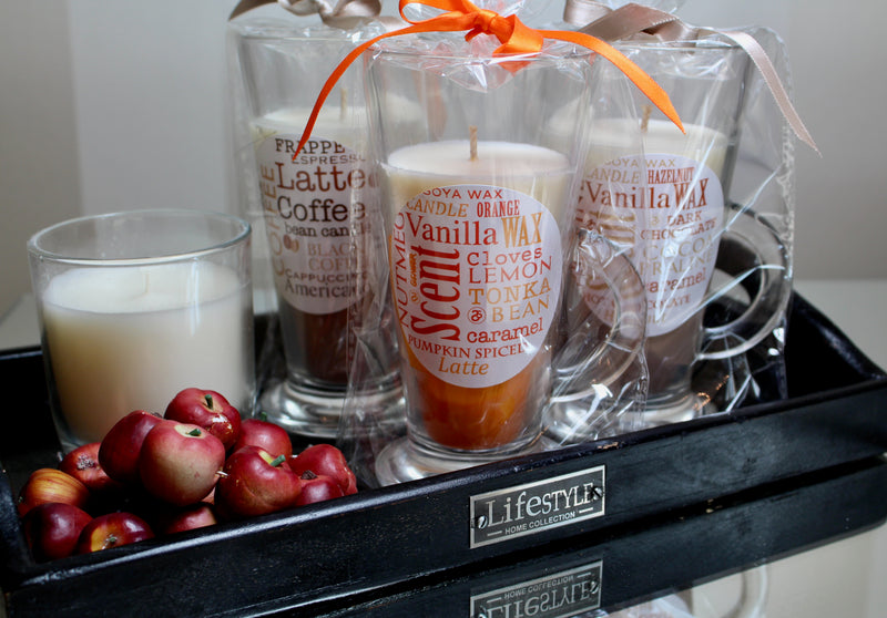 Spiced Pumpkin Latte Soya Wax Glass Candle