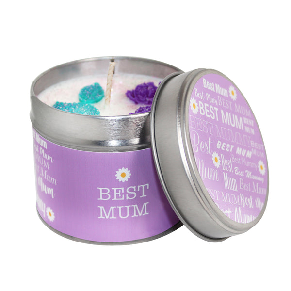 Best Mum Mothers Day Soya Wax Candle Tin