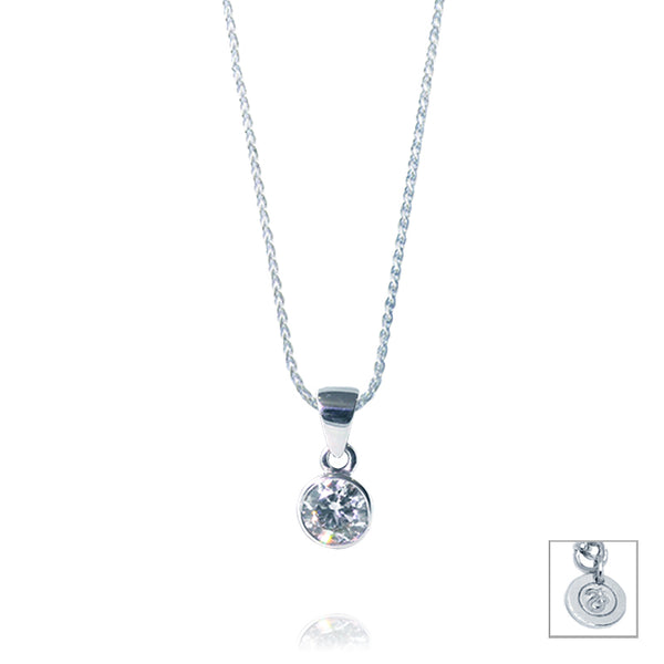 Bezel Set 0.25ct Diamond Pendant