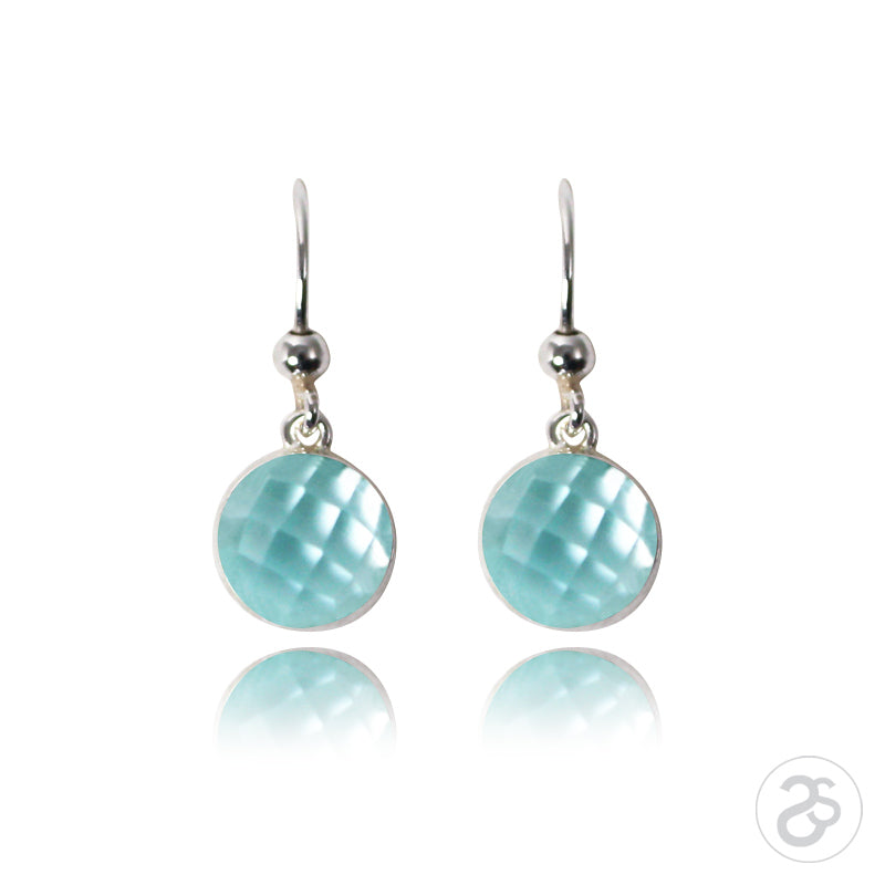 Blue Topaz & Sterling Silver Drop Earrings