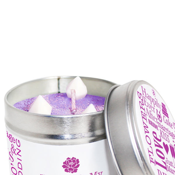 Personalised Will You Be My Flower Girl Soya Wax Candle Tin