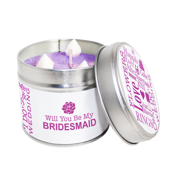 Will You Be My Bridesmaid Soya Wax Candle Tin