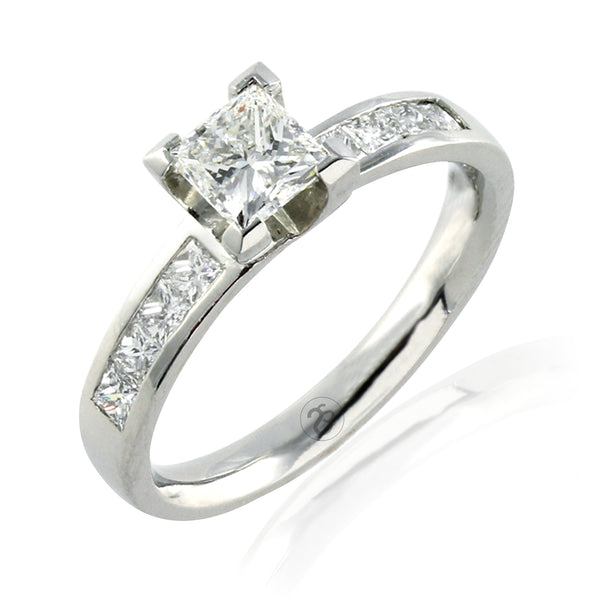 Platinum Carrington Princess 1.08 CT Diamond Ringe