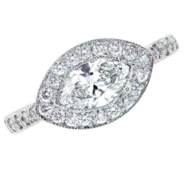 Platinum Catherine Marquise Cut 0.78 ct Diamond Ring