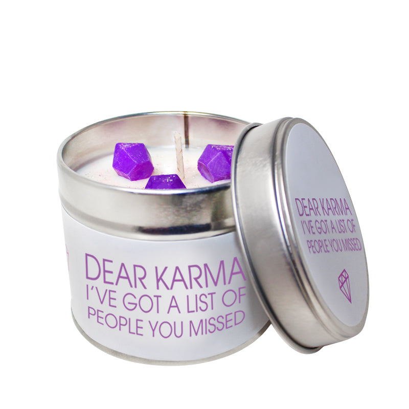 Dear Karma Soya Wax 'Cheeky' Candle Tin