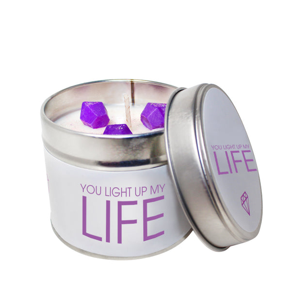 You Light Up My Life Soya Wax 'Cheeky' Candle Tin