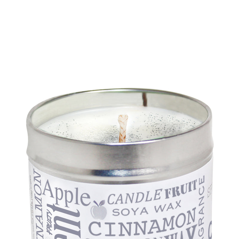 Spiced Cinnamon & Apple Scented Soya Wax Candle Tin