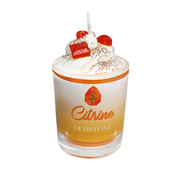 Citrine Gemstone Soya Candle