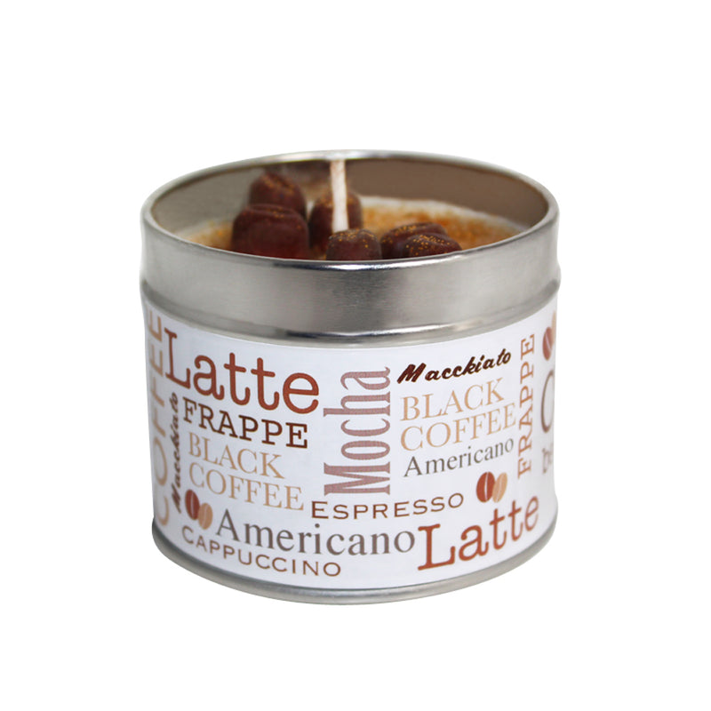 Coffee Bean Scented Soya Wax Candle Tin