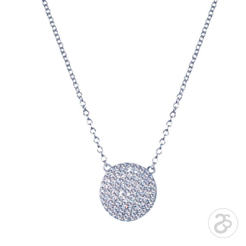 Sterling Silver Vogue Disc Necklace