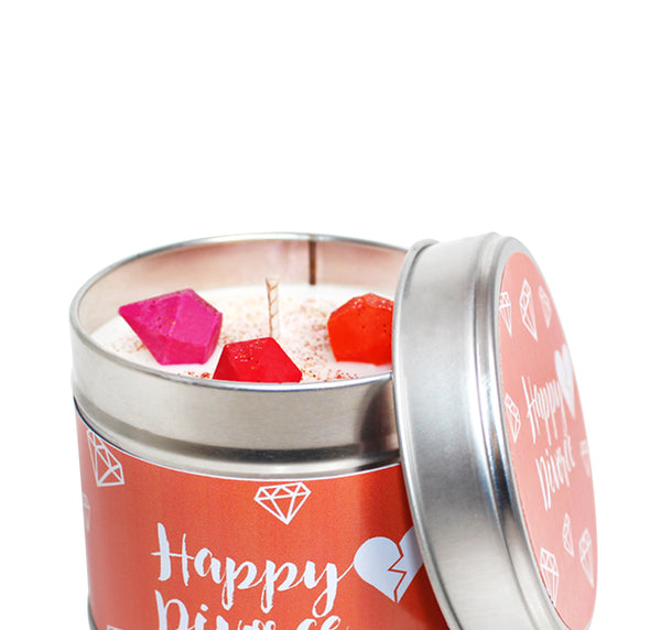 Happy Divorce Soya Wax Candle Tin