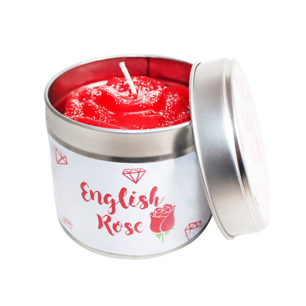English Rose Soya Wax Candle Tin