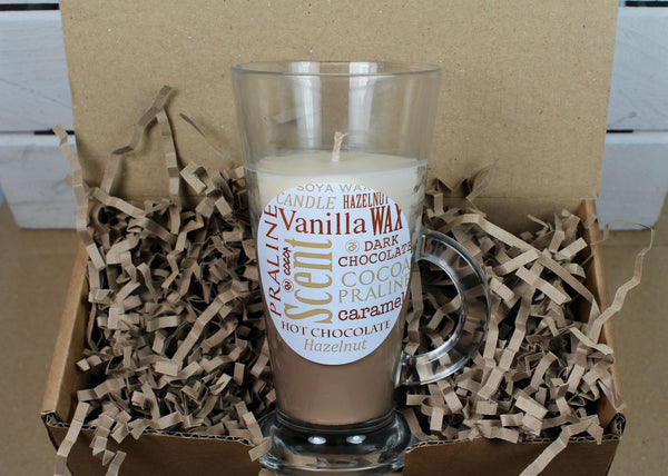 Hot Chocolate Soya Wax Glass Candle