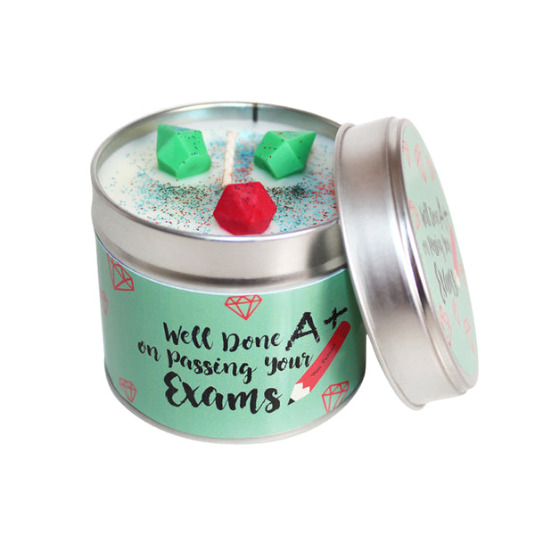 Well Done On Passing Your Exams Soya Wax Candle Tin