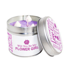 Will You Be My Flower Girl Soya Wax Candle Tin