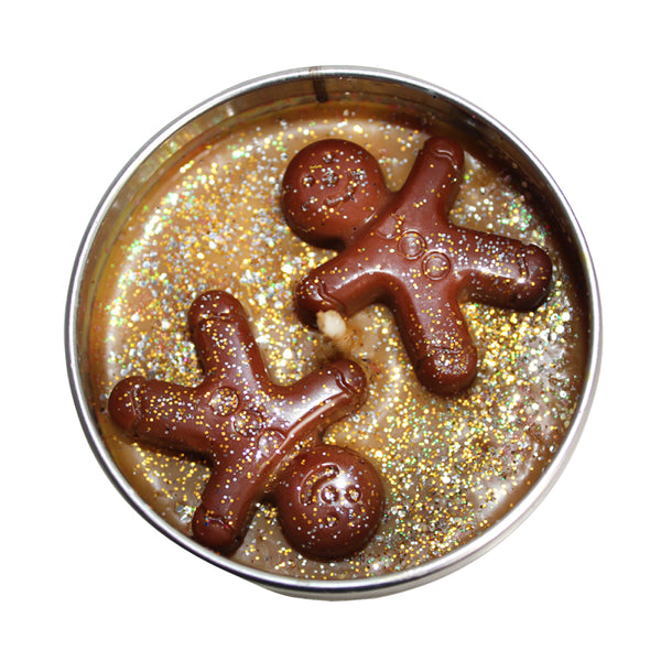 Christmas Warm Gingerbread Soya Wax Candle Tin