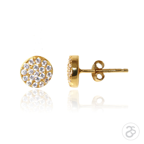 Yellow  Gold Vogue Stud Earrings